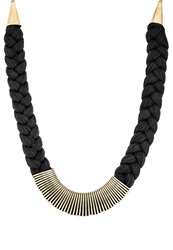 Anna Field Necklace Black Gold