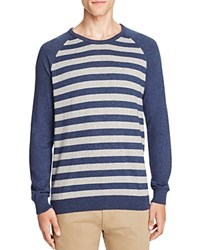 Jachs Ny Striped Color Block Sweater Navy