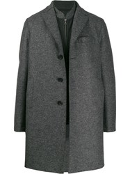 Harris Wharf London Layered Coat Grey