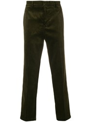 Golden Goose Deluxe Brand Corduroy Straight Leg Trousers Green