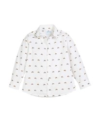 Mayoral Woven Tiny Motorcycle Button Down Shirt White