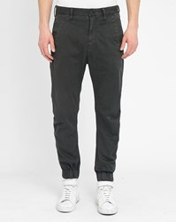 G Star Black Rovic Zip Tapered Elasticated Ankle Chinos
