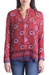 Kut From The Kloth Jasmine Top Bright Red