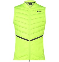Nike Aeroloft Perforated Quilted Hell Down Gilet Yellow