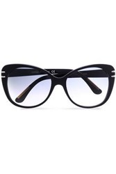 Roland Mouret Cat Eye Acetate Sunglasses Black