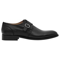 Reiss Paul Monk Strap Shoes Black