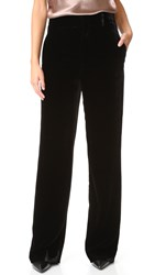 Vince Velvet Wide Leg Trousers Black