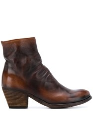 Officine Creative Giselle Ruched Ankle Boots 60
