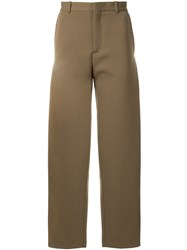 Y Project Front Panel Trousers Brown