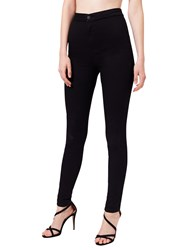 Miss Selfridge Super High Waist Jeans Black