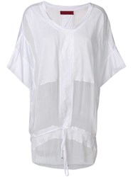 Di Liborio Sheer Panel Drawstring Tunic White