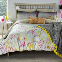 Clarissa Hulse Meadowgrass Duvet Cover Pink Yellow