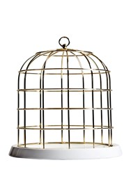 Seletti Twitable Wire Cage With Porcelain Plate White Gold