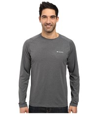 Columbia Tuk Mountain Long Sleeve Shirt Graphite Heather Men's Long Sleeve Pullover Gray