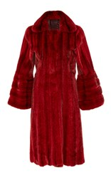 J. Mendel Mink Fur Coat Red