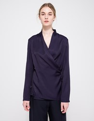 Just Female Wrap Blouse Blue Nights