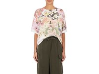 Maison Martin Margiela Mm6 Women's Floral Cotton Jersey Oversized T Shirt Pink No Color