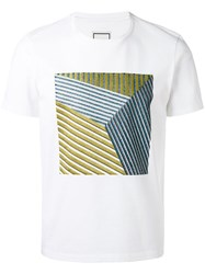 Wooyoungmi Square Pattern T Shirt Men Cotton 50 White