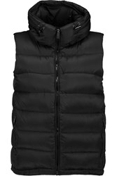 Add Quilted Shell Hooded Gilet Black