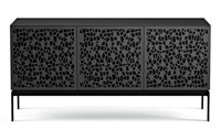 Bdi Elements Triple Width Media And Storage Cabinet Console Base Black