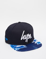 Hype Floral Drips Snapback Cap Blue