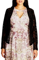 City Chic Plus Size Women's Elegant Lace Jacket