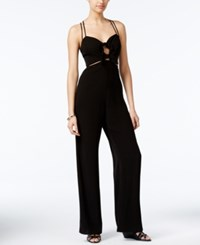 Material Girl Juniors' Tie Front Wide Leg Jumpsuit Only At Macy's Black