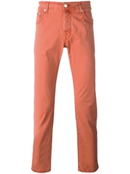 Jacob Cohen Slim Fit Jeans Yellow Orange