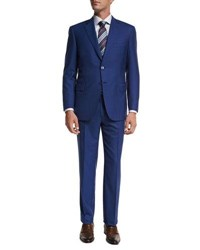 Brioni Solid Super 160S Wool Two Piece Suit High Blue