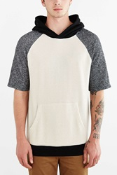 Bdg Colorblock Short Sleeve Pullover Hooded Sweatshirt Grey