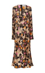Msgm Long Sleeve Ruffle Dress Floral