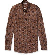 Our Legacy Paisley Print Twill Shirt Brown