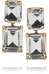 J.Crew Gold Tone Crystal Earrings