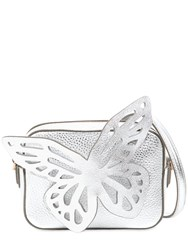 Sophia Webster Flossy Butterfly Metallic Leather Bag Silver