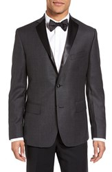 Jb Britches Men's J.B. Classic Fit Houndstooth Wool Dinner Jacket