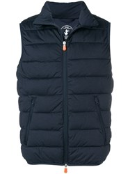 Save The Duck Padded Gilet Jacket Blue