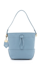 Zac Posen Eartha Envelope Drawstring Bucket Bag Sky