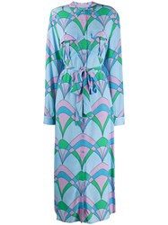 Essentiel Antwerp Troo Troo Printed Shirt Dress Blue