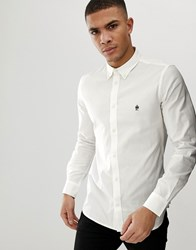 French Connection Long Sleeve Oxford Shirt White