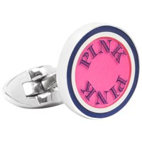 Thomas Pink Clifton Rock Cufflinks Navy Pink