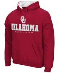 Colosseum Men's Oklahoma Sooners 3 Stack Logo Hoodie Crimson