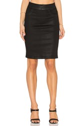 James Jeans Slip On Pencil Skirt Black Glossed
