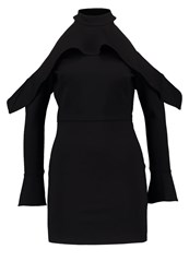 Oh My Love Pulsatilla Jersey Dress Black