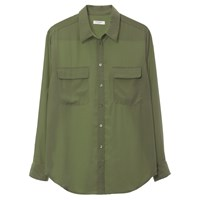 Equipment Slim Signature Blouse Military Green