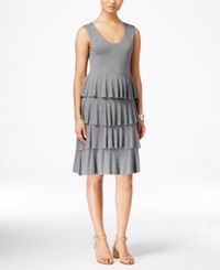 Styleandco. Style And Co. Sleeveless Tiered Dress Only At Macy's Mid Heather Grey