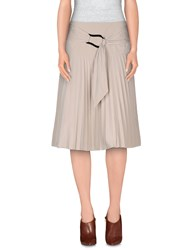 Strenesse Gabriele Strehle Skirts Knee Length Skirts Women Light Grey