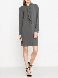 Reiss Hue Shift Shirt Dress Grey