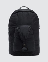 C.P. Company Cp Garment Dyed Nylon Sateen Lens Backpack Black