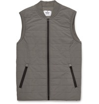 Reigning Champ Quilted Stretch Shell Gilet Gray