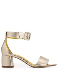 Danielapi Metallic Open Toe Sandals Gold